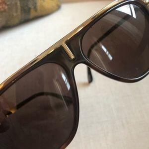 Tom Ford Tortoiseshell Sunglasses with Gold Detail